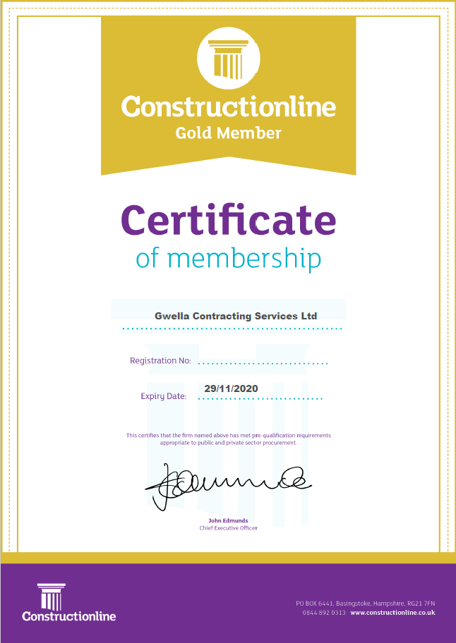 Constructionline Gold - Gwella Contracting
